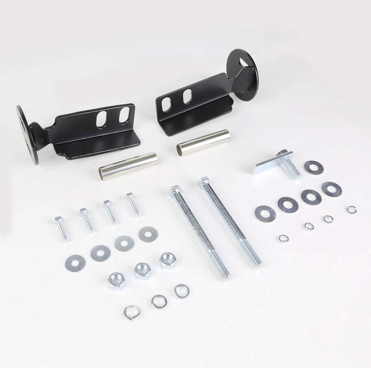 For Chevy Silverado//GMC Sierra GMT900 3 Bumper Push Bull Bar+Removable Skid Plate Black