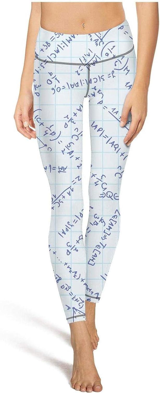 RTYTIYLIT Mathematical and Physics Formulas Black Backdrop Womens Leggins Funny