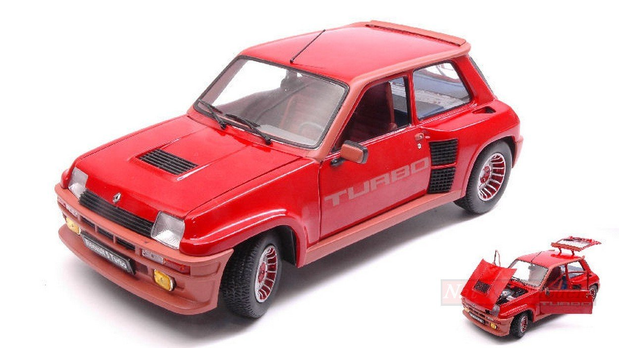 NEW Solido SL1801302 Renault R5 Turbo 1 1982 Red 1:18 MODELLINO Die Cast Model: Amazon.es: Juguetes y juegos