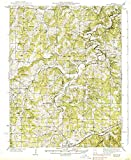 YellowMaps Redbird MO topo map, 1:62500 Scale, 15 X 15 Minute, Historical, 1938, 19.8 x 16.3 in - Polypropylene