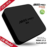 2017 Model SCS ETC Android 6.0 TV Box, Android TV Box Quad Core 2GB RAM 8GB ROM WIFI Smart Box Supports 4K HD H.265 3D Picture Video Audio Subtitle Kodi DRM Display