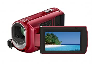 Sony DCR-SX40 Palm-Sized camcorder with 60X Optical Zoom (Red) (Discontinued by Manufacturer)
