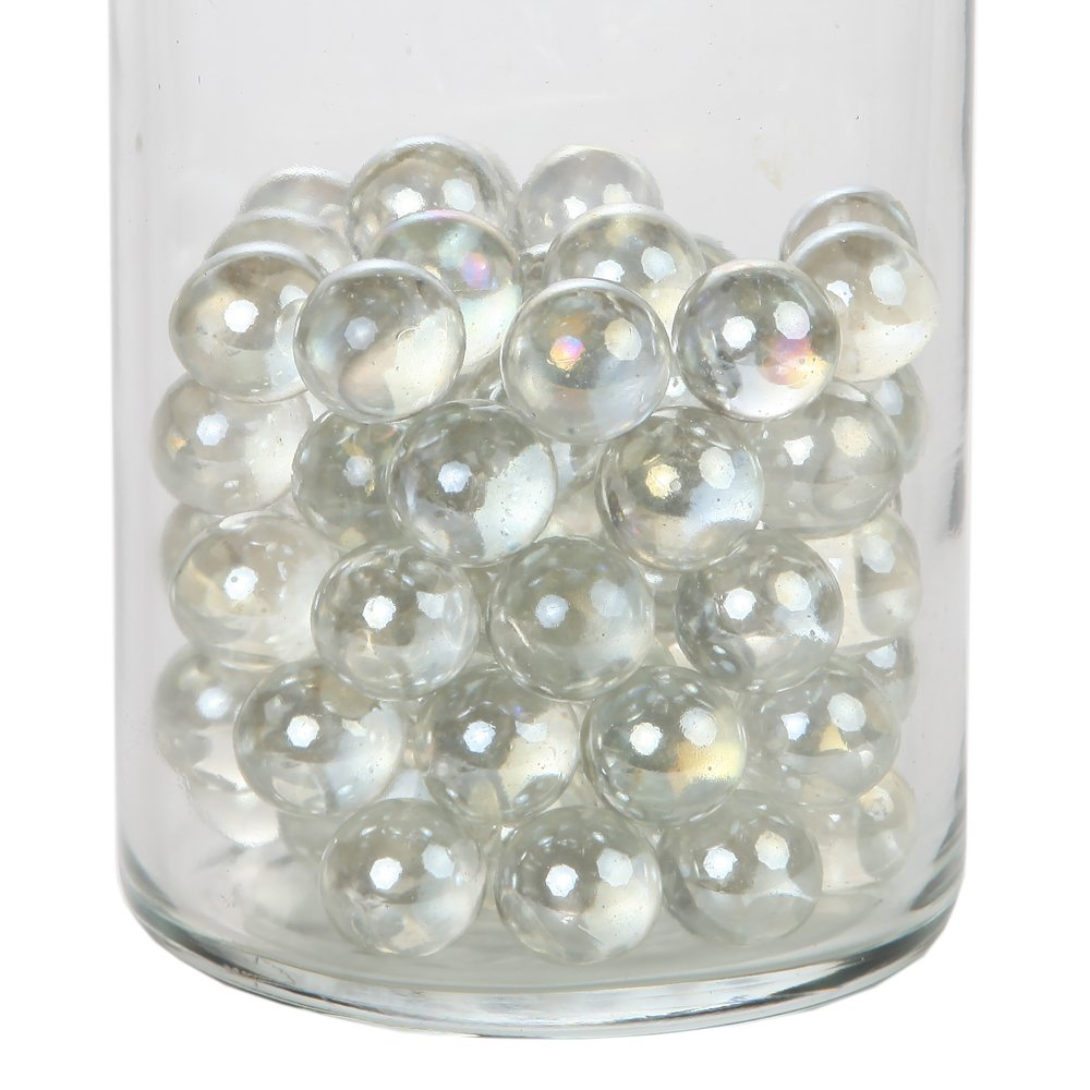 Home-X Decorative Glass Beads, Vase Filler Beads. Round (1 lb bag) (vase not included) by Home-X