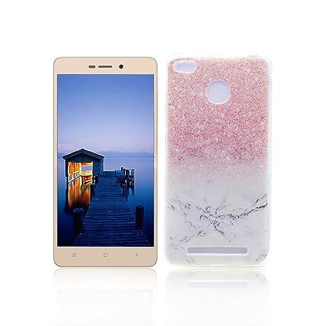 Funda XiaoMi RedMi 3S Carcasa Protectora OuDu Funda para XiaoMi RedMi 3S Caso Silicona TPU Funda Suave Soft Silicone Case - Mármol