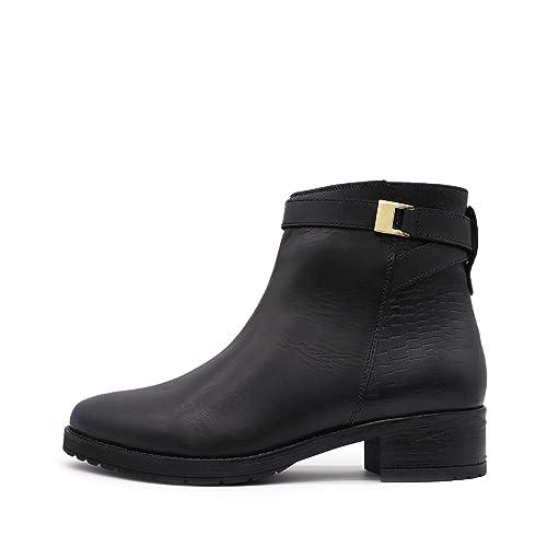 Kick Footwear 1092-PJ1006-01 - Botines Chelsea de Piel Mujer: Amazon.es: Zapatos y complementos
