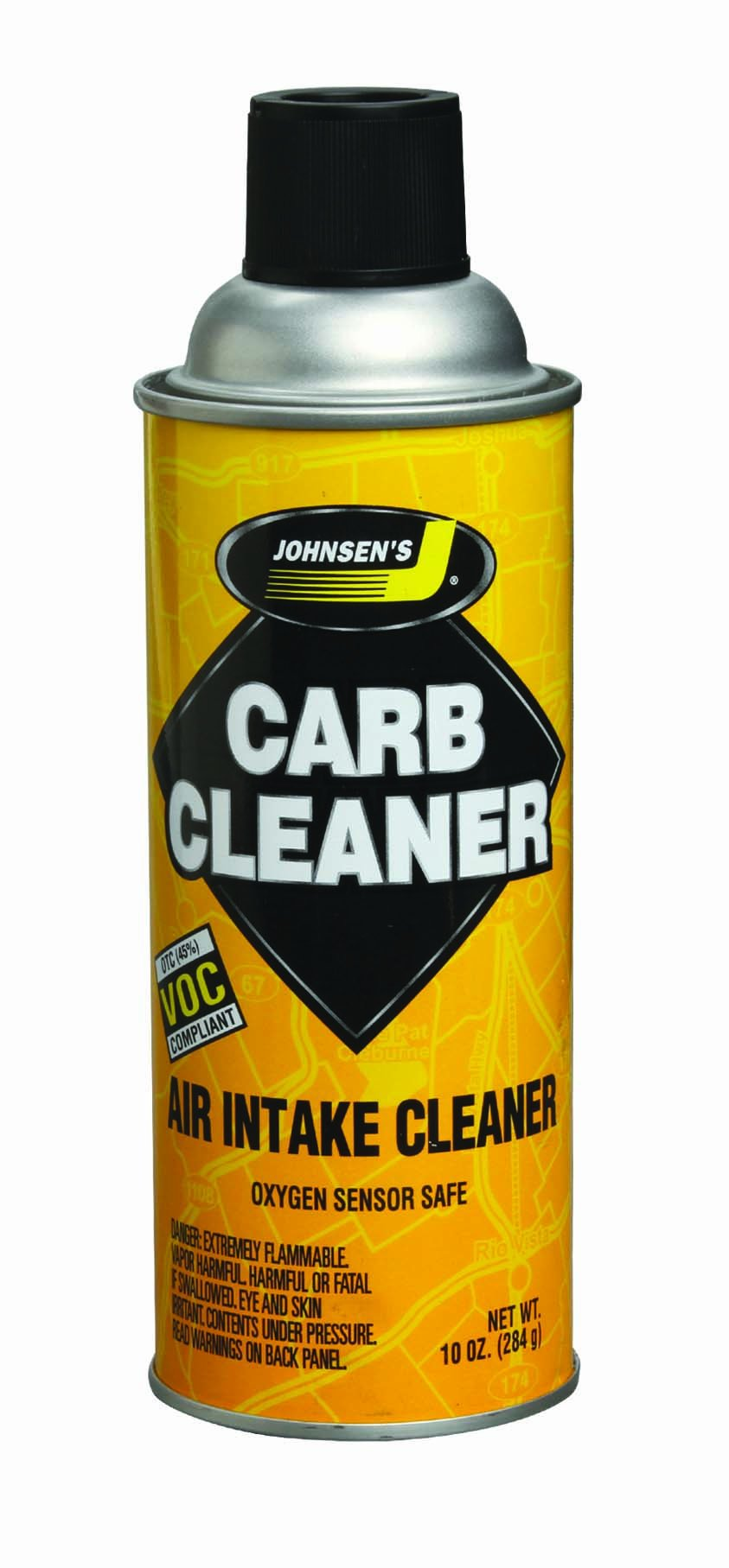 Johnsen's 4641-12PK VOC Compliant Carburetor Cleaner Spray - 10 oz, (Pack of 12)