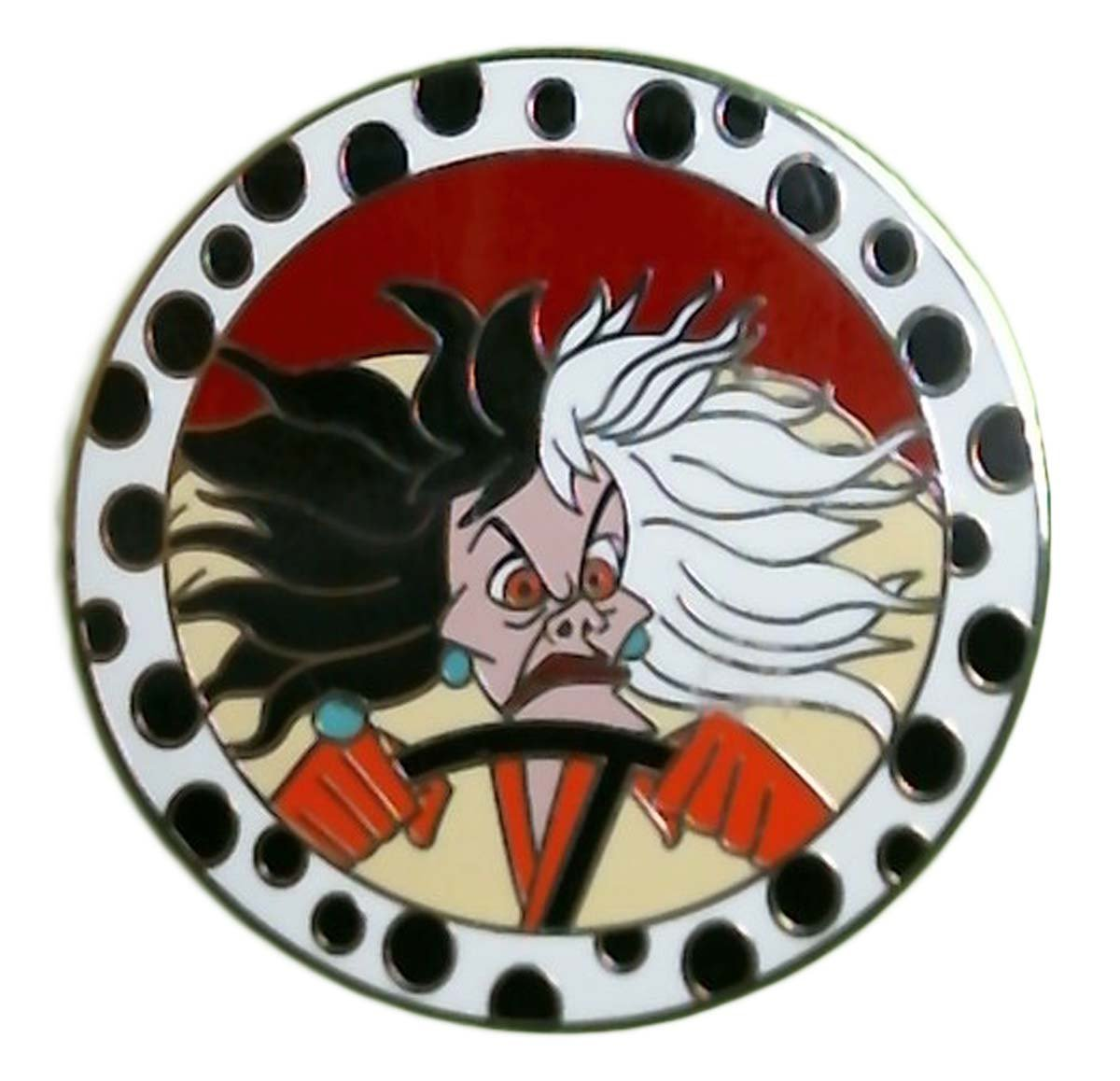 Authetic Disney CRUELLA - VILLAIN SERIES - DALMATIANS New on Card Trading Pin by HuiLin Jewelry (Image #1)