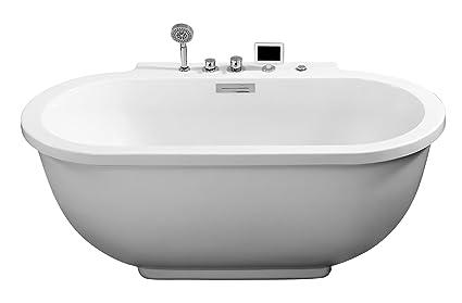 stand alone whirlpool tub. ARIEL Platinum AM128JDCLZ Whirlpool Bathtub  Freestanding Bathtubs