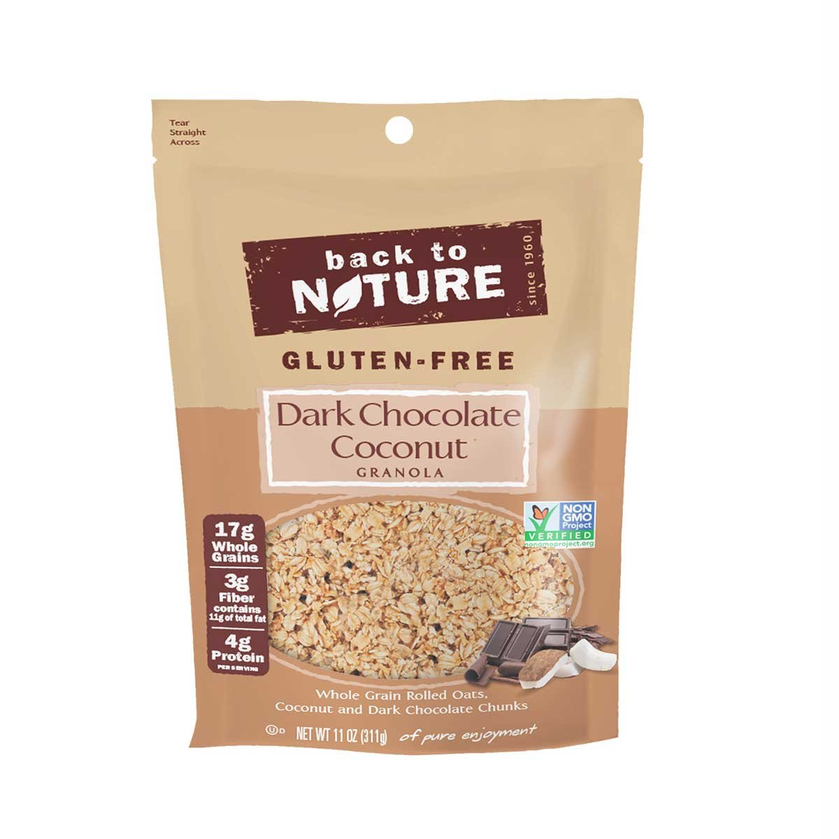 Back to Nature Gluten-Free Dark Chocolate Coconut Granola 11oz (2 Pack))