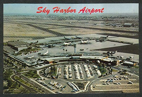 Aerial view of Phoenix Sky Harbor International Airport AZ postcard - Phoenix Az Airport