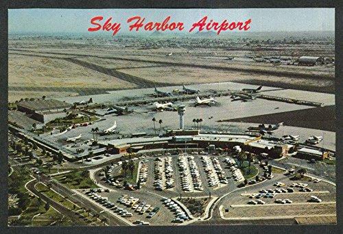 Aerial view of Phoenix Sky Harbor International Airport AZ postcard - Phoenix Airport Az
