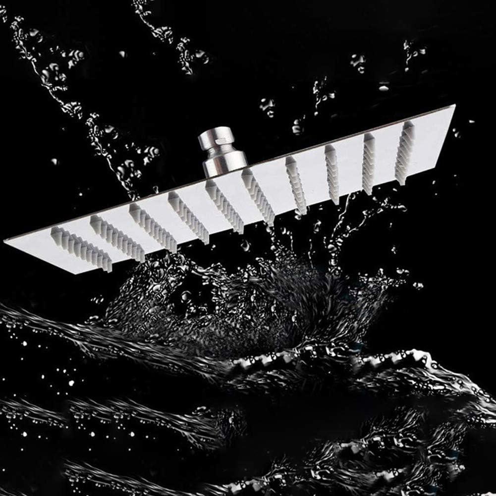 Alcachofa de ducha fija cuadrada de acero inoxidable de alta presi/ón accesorio de ba/ño 4 pulgadas