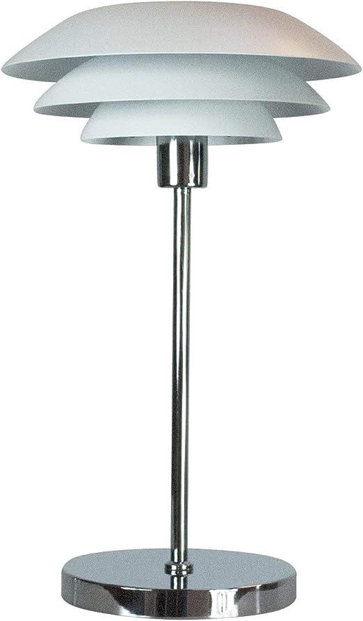 Lámpara de mesa escandinava, color blanco, DL31 diámetro: 31 cm ...