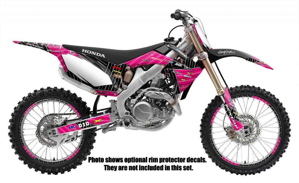 Senge Graphics Kit Compatible with Honda 2015-2019 CRF 150F//230F Race Series Pink Graphics kit