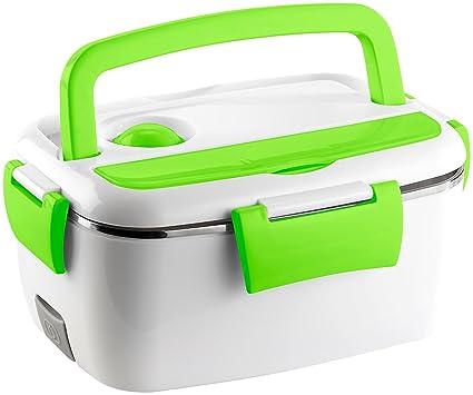 Rosenstein & Söhne Fiambrera térmica y eléctrica, calentador de alimentos de acero, 35 W