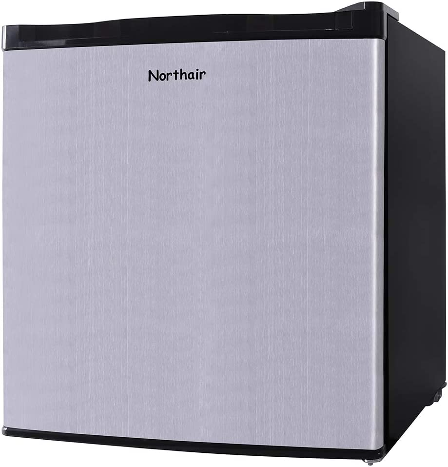 Northair Upright Freezer with 1.1 Cubic Feet Capacity, Compact Reversible Single Door Table Top Mini Freezers for Ice Cream/Breast Milk/Sea Food, Removable Shelf, Adjustable Thermostat
