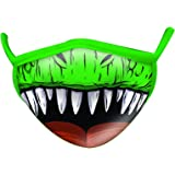 Wild Republic Wild Smiles Child Small Adult Face Mask, Reusable Face Mask, Washable Face Mask, Half Face Mask, Dinosaur Design
