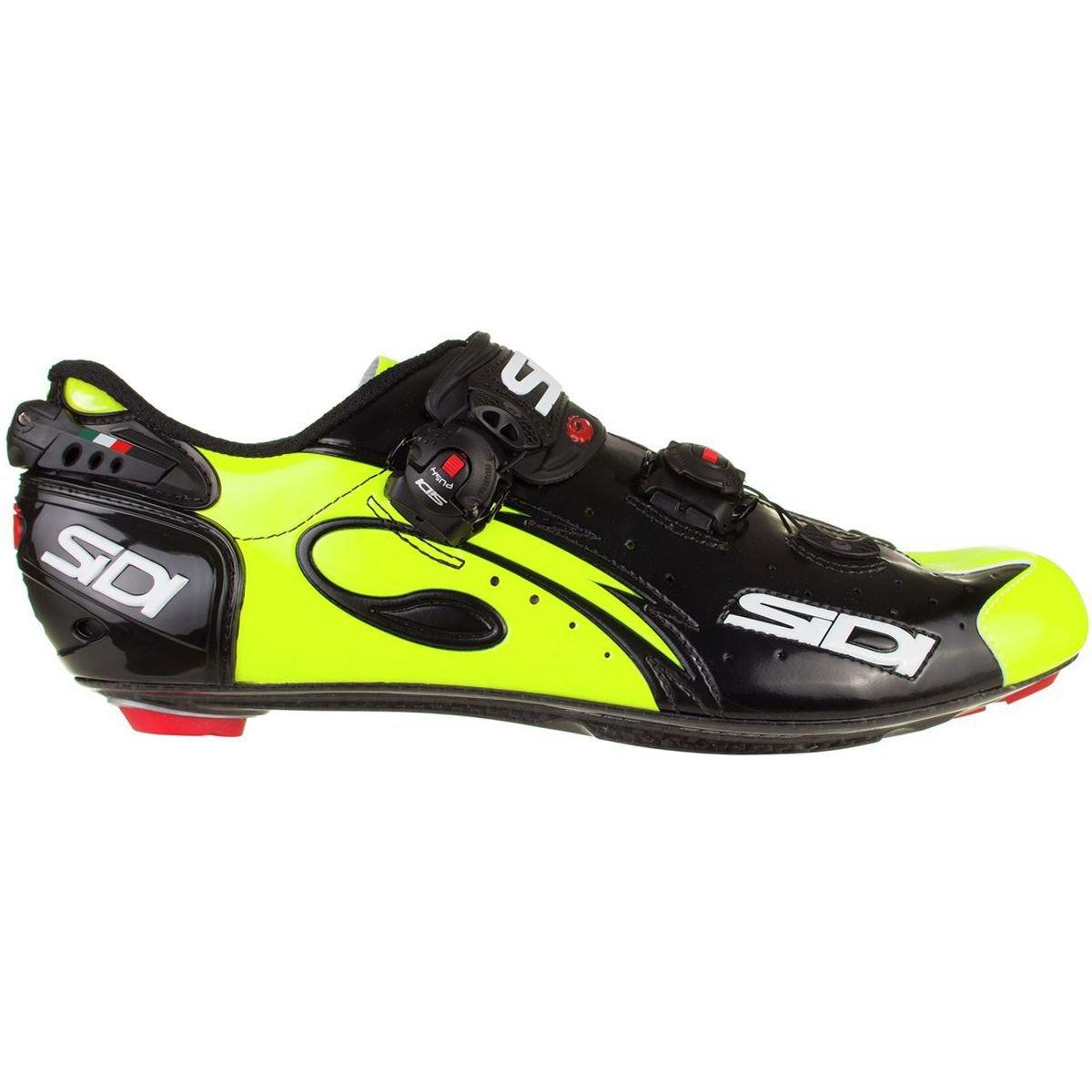 (シディ) Sidi Wire Push Cycling Shoe メンズ ロードバイクシューズBlack/Flo Yellow [並行輸入品] B07G75F8F5 日本サイズ 28.5cm (44.5)|Black/Flo Yellow Black/Flo Yellow 日本サイズ 28.5cm (44.5)