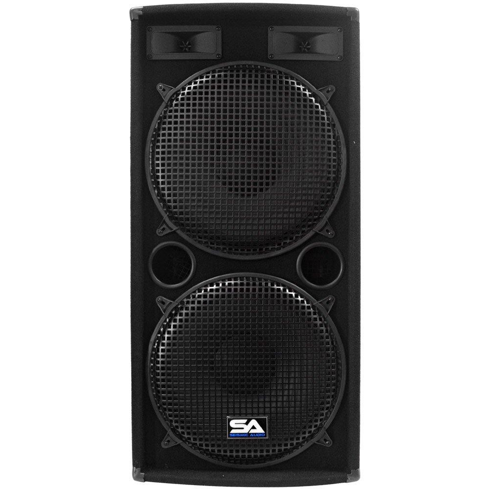 Seismic Audio - Pair of Dual 15'' PA DJ SPEAKERS 1000 Watts PRO AUDIO - Band, Bar, Wedding, Church by Seismic Audio (Image #4)