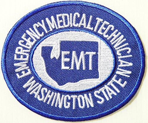 Emergency Medical Technician Washington State Emt Patch Iron On Uniform (Dead Emt Costume)