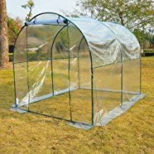 "Outsunny 98"" x 79"" x 79"" Transparent Dome Walk-in Greenhouse Grow Plants Vegetables Steel Hot Backyard Growing House"