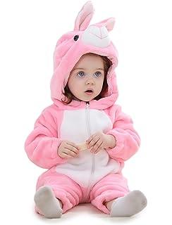 Adorel Pelele Buzo Pijama Manta con Capucha para Bebés Niño