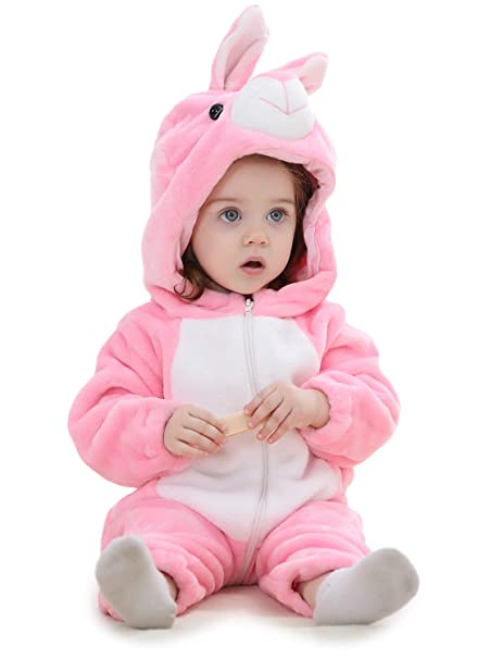 dfb6e7a08 Adorel Pelele Buzo Pijama Manta con Capucha para Bebés Niño Conejo Rosa  13-18 Meses