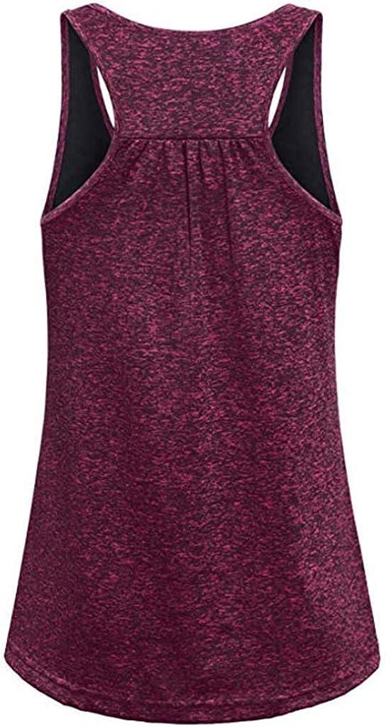 Camiseta Basicas de Tirantes Gym Yoga Running Mujeres Camiseta Fitness Camisa Tops Camiseta Deportiva sin Mangas