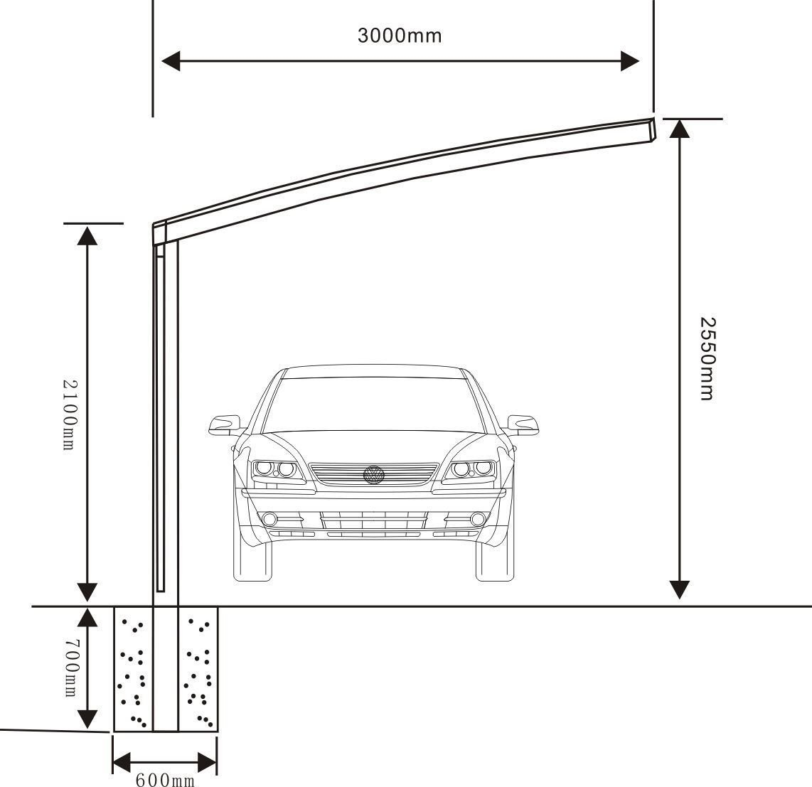 10' x 20' Metal Carport Tent Shelter Attached Carport Metal Aluminum With Gutter And Polycarbonate Panel, Metal RV Carports for Car, Yacht And Copter, Also Is Luxury Patio Cover by ClearYup (Image #4)