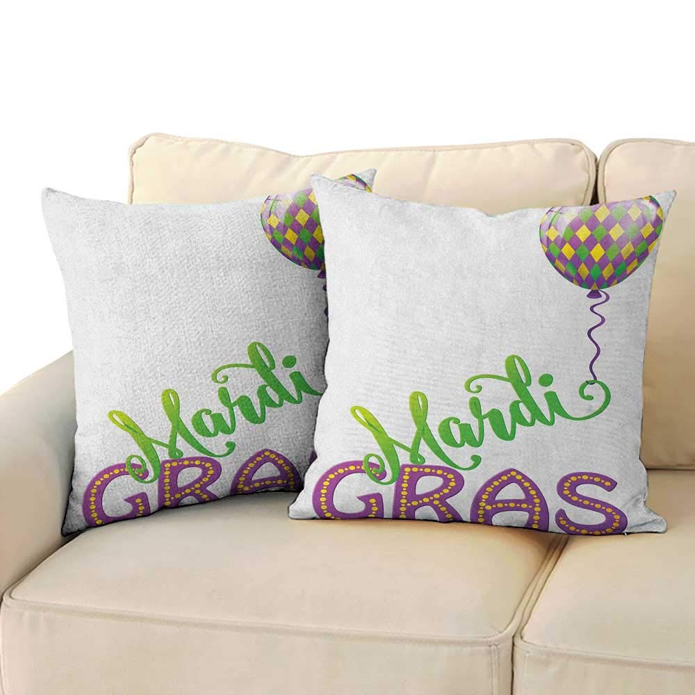 Amazon.com: RenteriaDecor Mardi Gras,Custom Pillow Cases ...