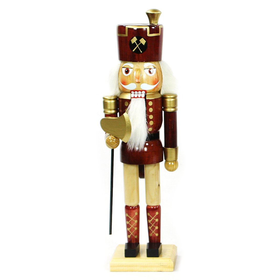 Dekohelden24 Nussknacker Soldat mit AXT, ca. 15 cm für Weihnachten