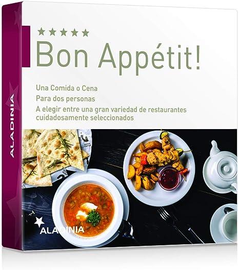ALADINIA Box Caja Regalo Pack Bon Appétit | Comida o Cena para Dos ...