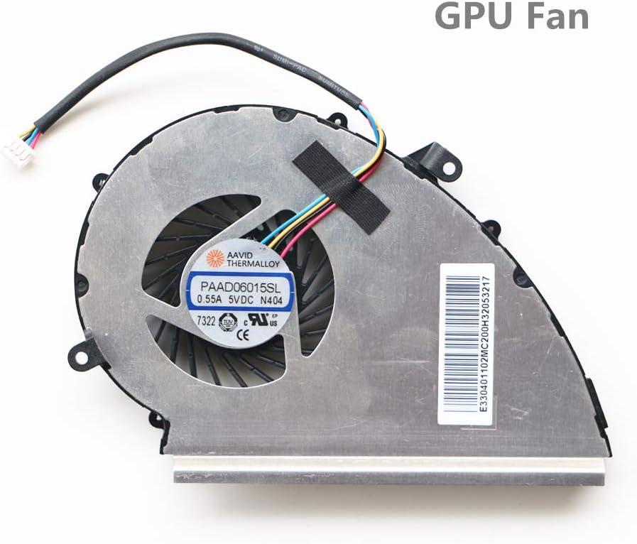 DXCCC - Ventilador de refrigeración para Ordenador portátil Msi GE72VR GP72VR GL72VR MS-179B GPU