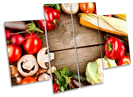 Stampe Da Cucina : Fresh seasonal verdure da cucina multi tela artistica da parete con