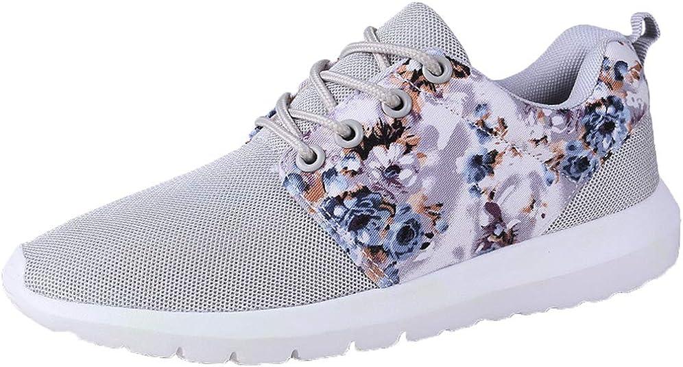 Zapatillas de Correr para Mujer Zapatillas Ligeras de Malla Transpirable Deportes al Aire Libre Caminar Gimnasio Zapatillas Bajas: Amazon.es: Zapatos y complementos