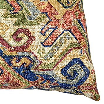Stone Beam Vintage Throw Pillow – 20 x 20 Inch, Multi Color Bright