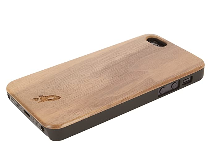 Iphone 5 Wood Case By Rocketcases Wooden Iphone 5 Case Real Dark Walnut Wood Grain Slim Fit Lightweight Wood Plastic Hybrid Case Iphone 5