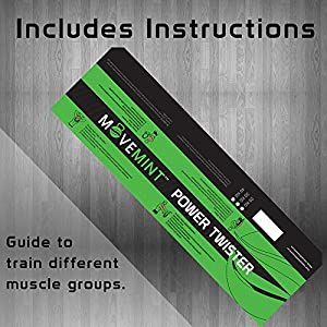 MOVEMINT Power Twister | Chest Resistance Spring Bar Exerciser (40KG/90LBS) (Tamaño: 40KG / 90LBS (Ultra Strong))