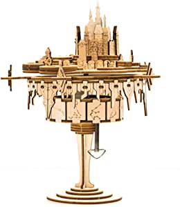 NBCDY Building Blocks Music Box, Castle City of Sky Architecture Creative, Creative Thinking Technic Toy, for Adults and Kids to Build