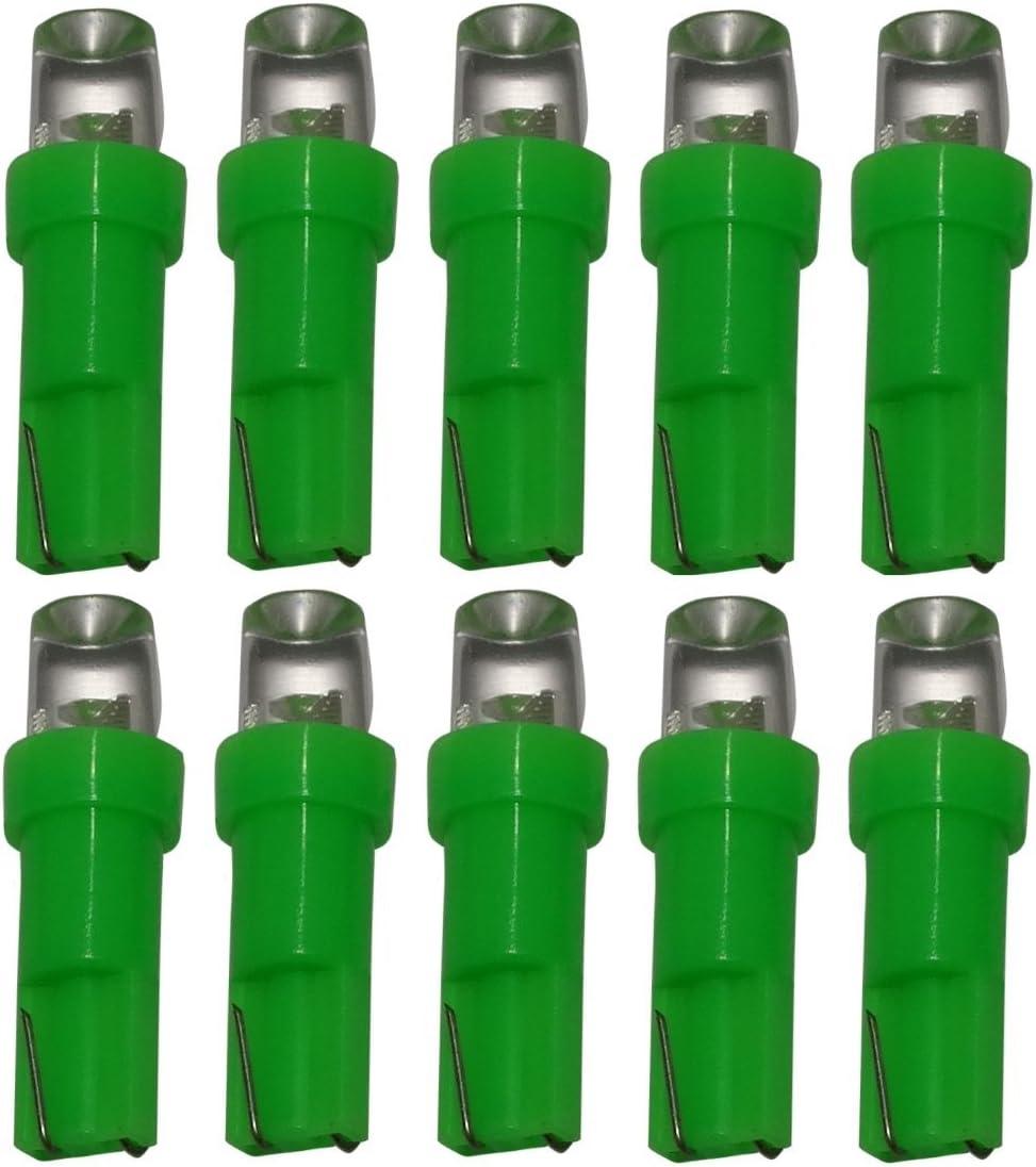 /Fiala lampadina lampada T5/24/V LED verde per cruscotto camion Aerzetix/ /10/X LED/