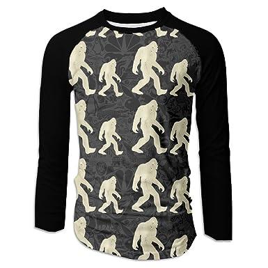 270c8ae0 Amazon.com: Bigfoot Hide And Seek Champion Funny Wood Casual Baseball Boat  Neckline Fashion Long Sleeve Men Raglan T-shirts: Clothing