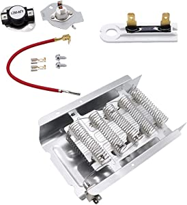 279838 Dryer Heating Element & 3392519 Thermal Fuse & 279816 Thermostat kit by Primeswift Compatible with Whirlpool Kenmore Dryers