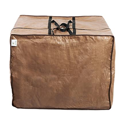 Charmant Abba Patio Seat Cushion Storage Bag, Waterproof Zippered Cover Storage Bag,  Brown