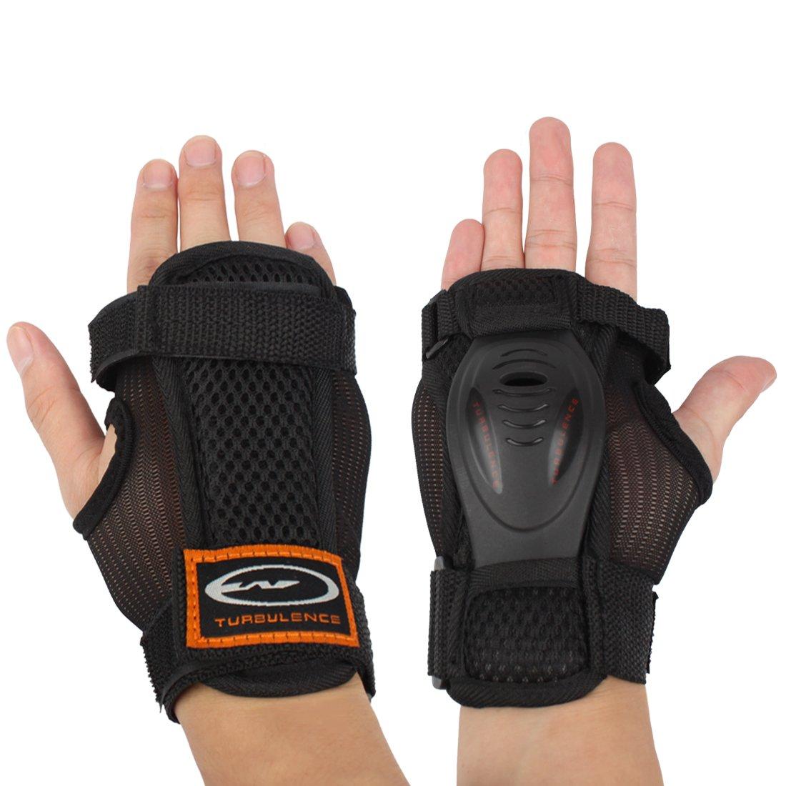 Andux Ski Gloves Extended Wrist Palms Protection Roller Skating Hard Gauntlets Adjustable Skateboard Gauntlets Support HXHW-03 (L)