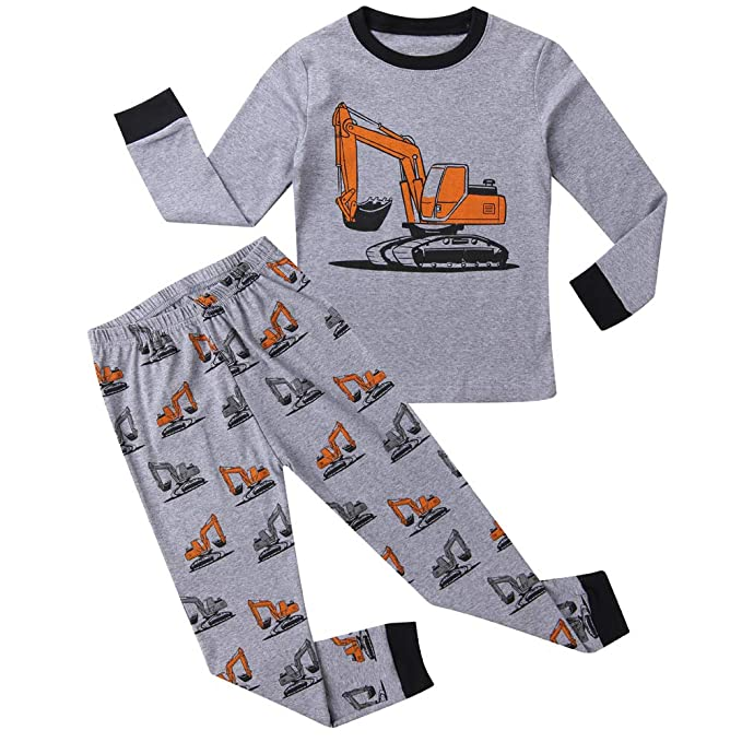 Amazon.com: Hsctek Boy Pajamas Set Niños Largo PJS Niños ...