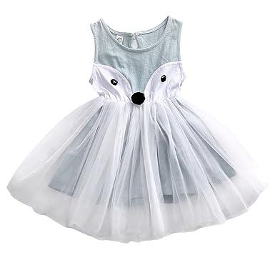 profesional buscar oficial comprar nuevo BiggerStore Bebe niña Vestido blanco tutu largo como animal ...