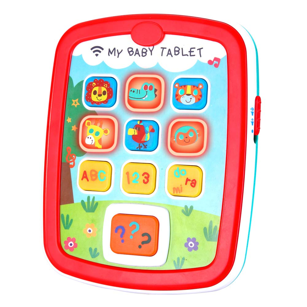 Infant Toys Baby Tablet Toys Learning Educational Activity Center for 6  12  18 Month up Boys and Girls with Music Light ABC Numbers Color Games Baby Toys for First Birthday by INSOON (Image #1)