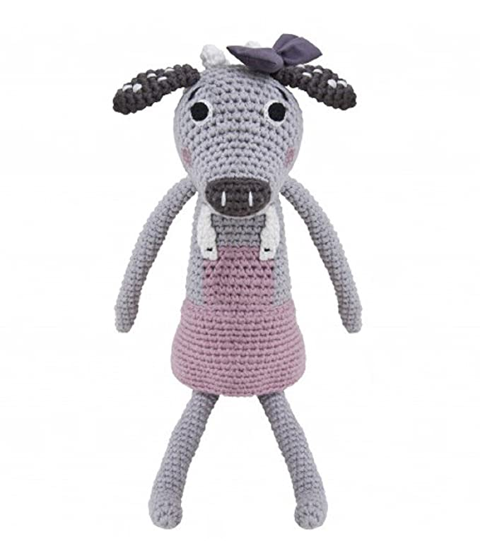 Sebra Peluche de crochet la vaquita clara: Amazon.es: Juguetes y juegos