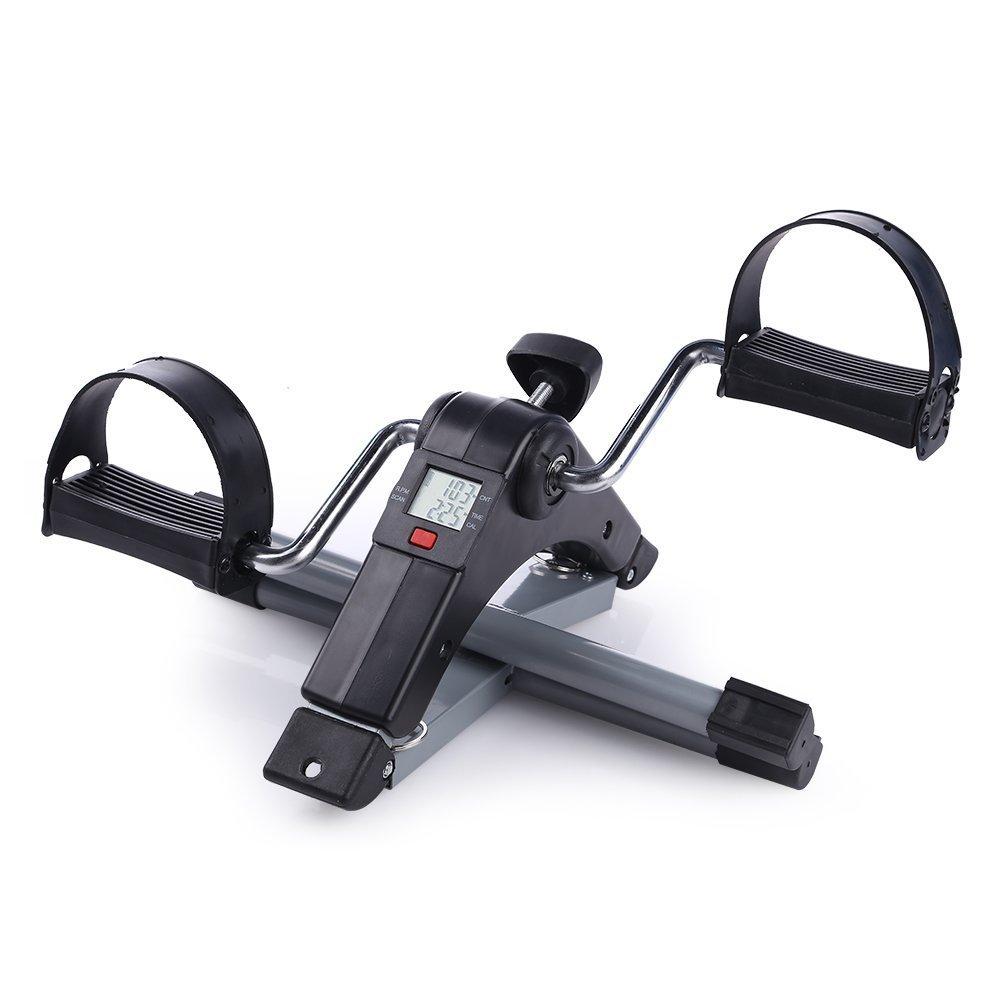 Mini cyclette pieghevole pedaliera da casa regolabile digitale mani e piedi Pedale per Braccia e Gambe