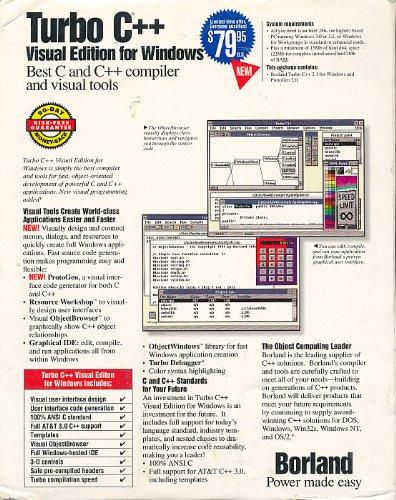 Amazon.com: Borland Turbo C++ 3.1/3.0 Visual Edition for Windows V-3.1 (5-Book & 8- 3.5